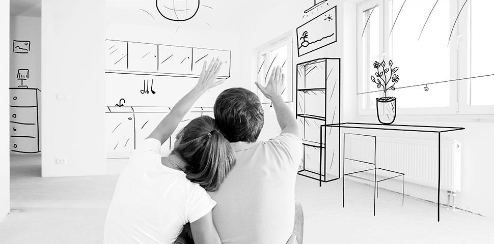 par planlegger nytt hus